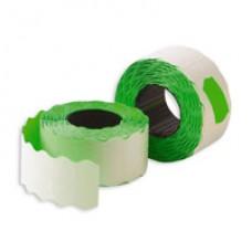 Этикет-лента, 26х12, зеленая волна 10шт/упак
