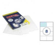 Самоклеющиеся этикетки 105*74(8шт/лист ,А-4) 100 л