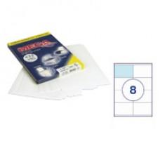 Самоклеющиеся этикетки 105*70(8шт/лист ,А-4) 100 л