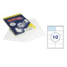 Самоклеющиеся этикетки 105*57 (10шт на А-4) 100 л