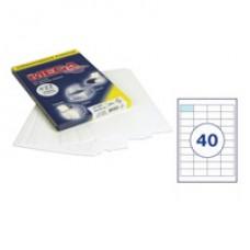 Самоклеющиеся этикетки 48,5*25 (40шт на А-4) 25 л