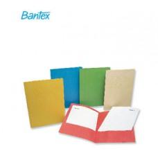 Папка-уголок двойная Bantex  из проч. картона красная