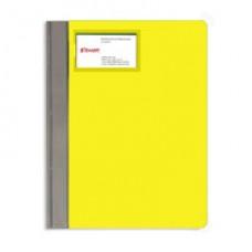 Папка-скоросшиватель Bantex с карманом для визитки желтый