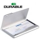Визитница на 20 визиток бокс Durable, металл.1 отд