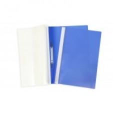 Папка-скоросшиватель  А-5 с прозр.верхом синяя