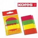 Закладки клейкие набор Kores Index 4 цвета,  по 50 л бумажные