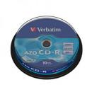 Диск CD-R на шпинделе  10 шт (Verb)