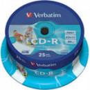 Диск CD-R на шпинделе  25 шт (Verb)