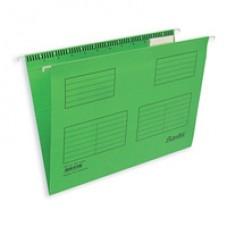 Папка подвесная Bantex  Foolscap, зеленая 25 шт/уп