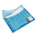 Папка-конверт двойная с кнопкой Rexel,синий,формат А-4