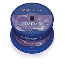 Диск DVD-R+ на шпиделе 50шт (Verbatim DVD+R)