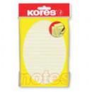 Блок бумажный для записей Kores , желтая в линейку