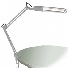 Светильник настольный КТ008С на струбцине белая